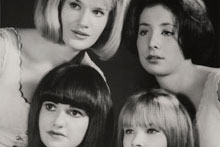 Portrait of the Sugarhill Four, c. 1964. Clockwise from bottom left: Joanna Frueh, Sharon O'Melia, Deborah Rubin, Suzanne Dienner